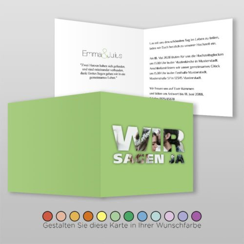 Hochzeitskarte Q 4S Emma