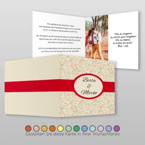 Hochzeitskarte Q-4S Fortuna 02