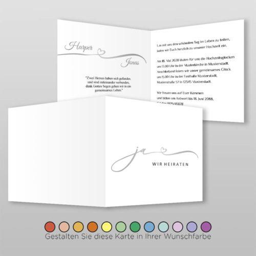Hochzeitskarte Q 4S Harper