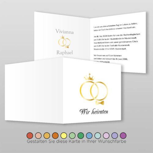 Hochzeitskarte Q 4S Kate