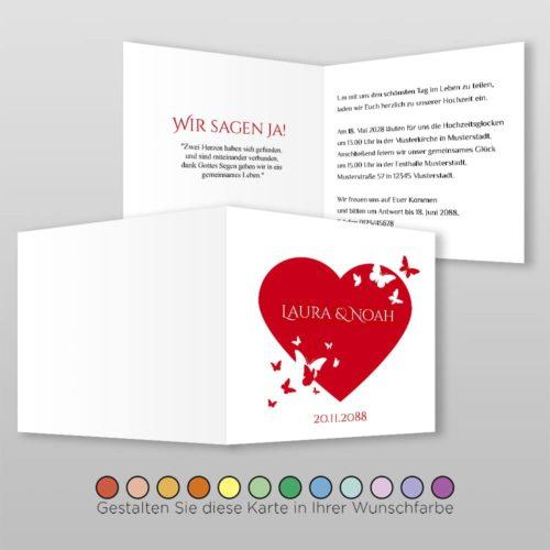 Hochzeitskarte Q 4S Laura