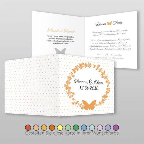 Hochzeitskarte Q 4S Leonor