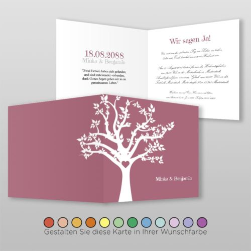 Hochzeitskarte Q 4S Minka
