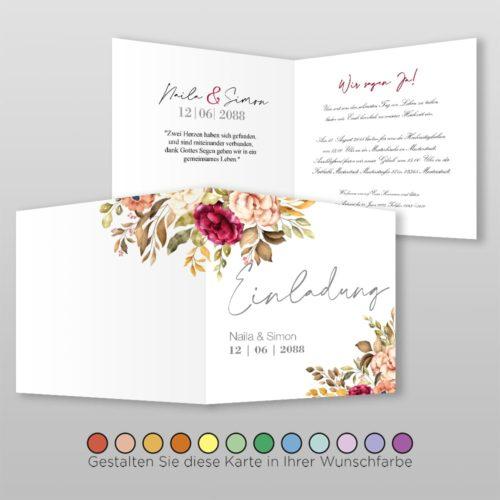 Hochzeitskarte Q 4S Naila