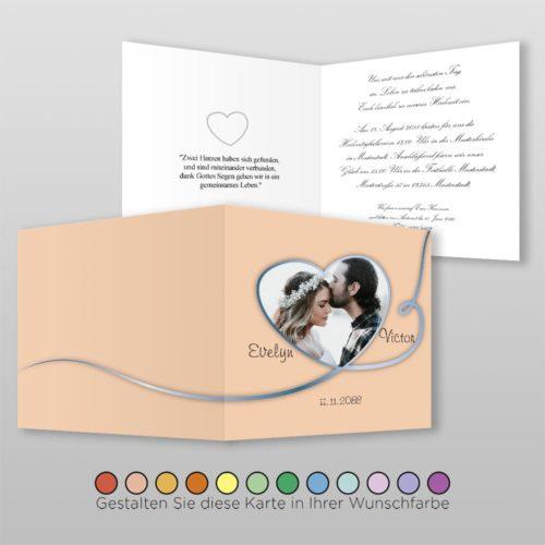 Hochzeitskarte Q 4S Nele
