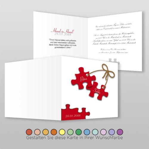 Hochzeitskarte Q 4S Petra
