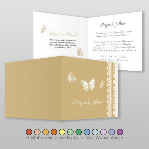 Hochzeitskarte Q 4S Pinja