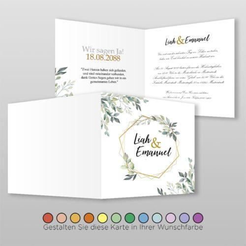Hochzeitskarte Q 4S Rea