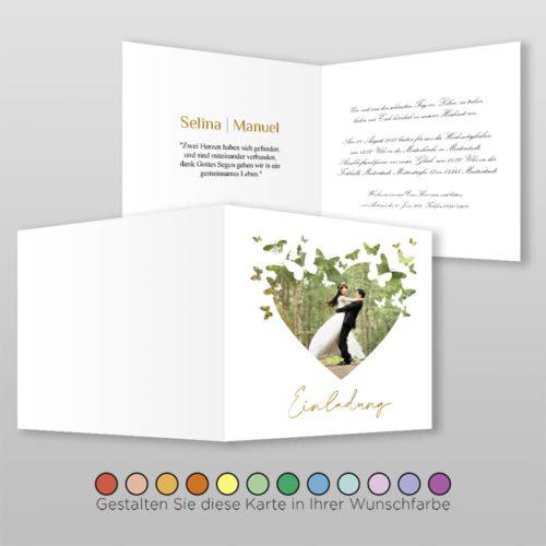 Hochzeitskarte Q 4S Selina