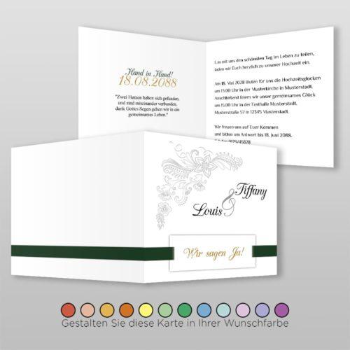 Hochzeitskarte Q 4S Tiffany