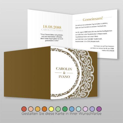 Hochzeitskarte Q 4S Vivianna