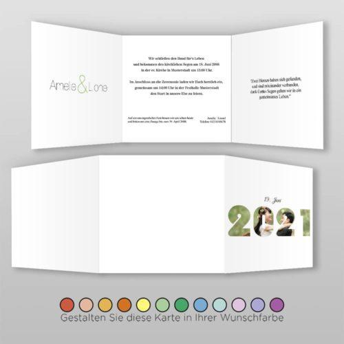 Hochzeitskarte Q 6S Amelie