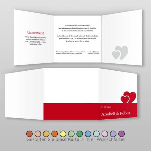 Hochzeitskarte Q 6S Anabell