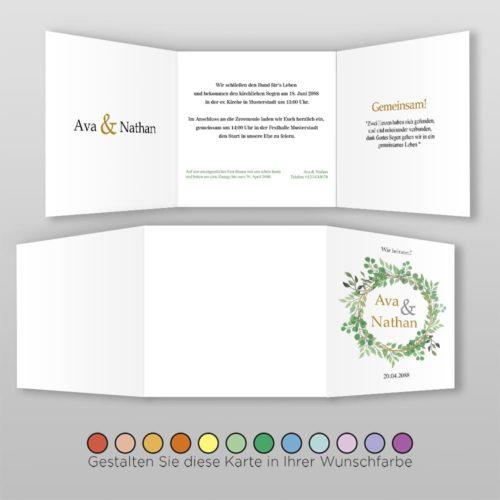 Hochzeitskarte Q 6S Ava 2