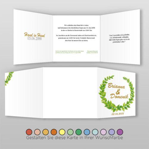 Hochzeitskarte Q 6S Brianna