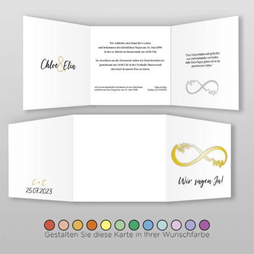 Hochzeitskarte Q 6S Chloe