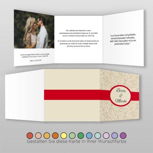 Hochzeitskarte Q-6S Fortuna 02