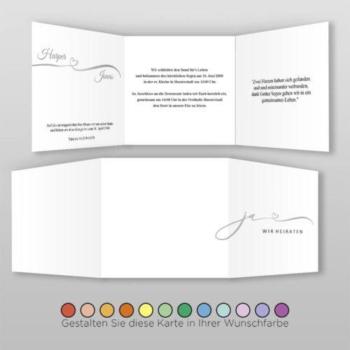 Hochzeitskarte Q 6S Harper
