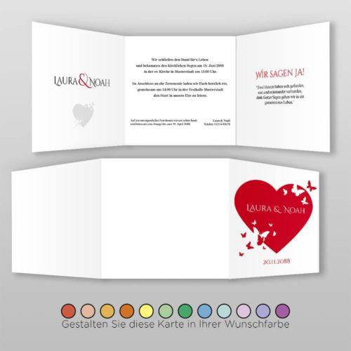 Hochzeitskarte Q 6S Laura