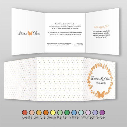 Hochzeitskarte Q 6S Leonor