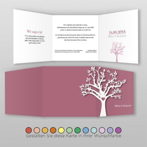 Hochzeitskarte Q 6S Minka