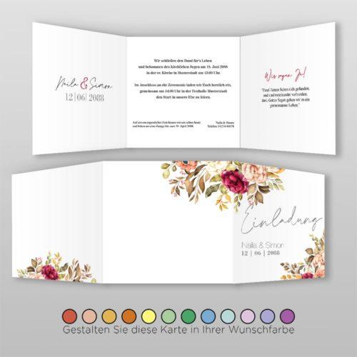 Hochzeitskarte Q 6S Naila