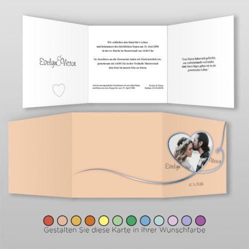 Hochzeitskarte Q 6S Nele