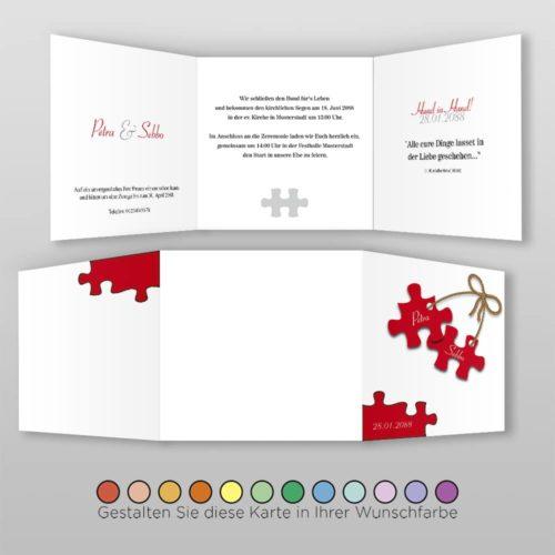 Hochzeitskarte Q 6S Petra