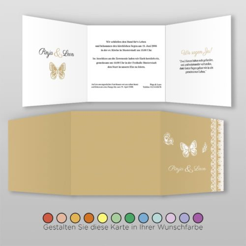Hochzeitskarte Q 6S Pinja