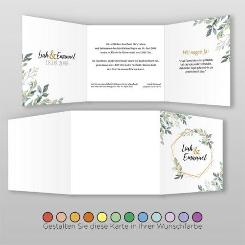 Hochzeitskarte Q 6S Rea