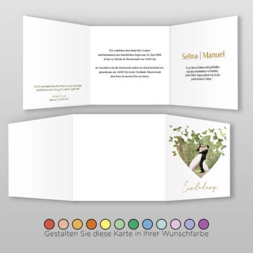 Hochzeitskarte Q 6S Selina