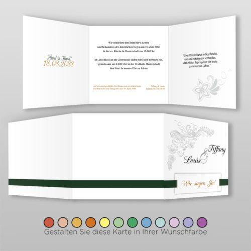 Hochzeitskarte Q 6S Tiffany