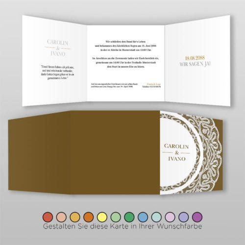 Hochzeitskarte Q 6S Vivianna