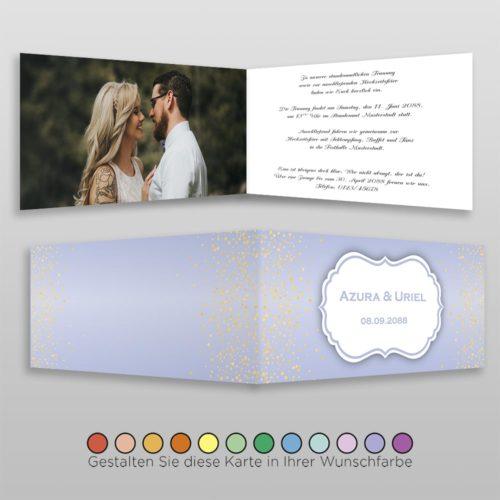 Hochzeitskarte Ronja D-4S