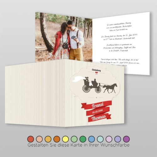 Hochzeitskarte Tanja Q-4S