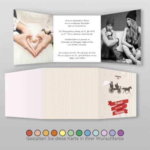 Hochzeitskarte Tanja Q-6S