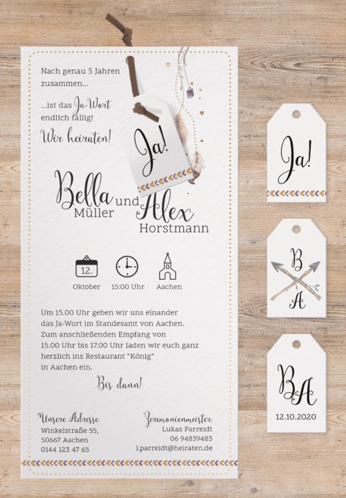 Hochzeitskarte Yaren 02