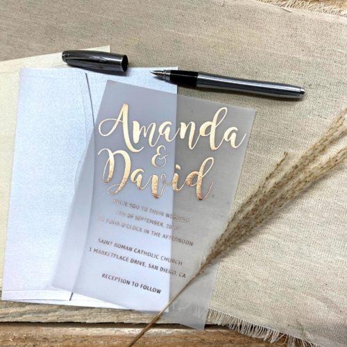 Hochzeitskarte Unique