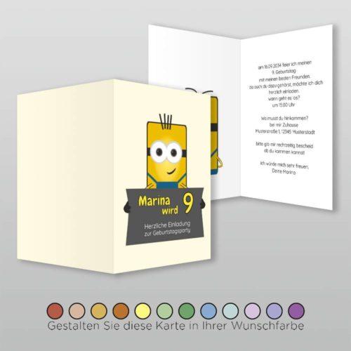 Kindergeburtstagskarte A6h 4s Dima