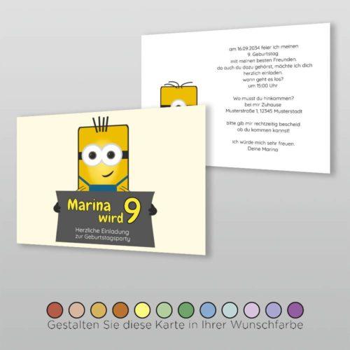 Kindergeburtstagskarte A6q 2s Dima
