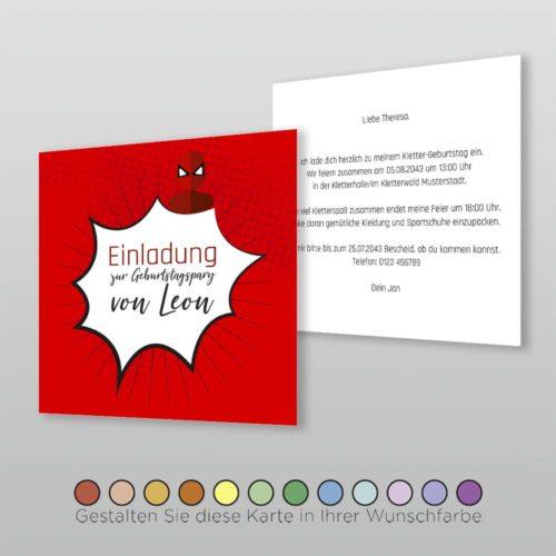 Kindergeburtstagskarte Q 2s Atara