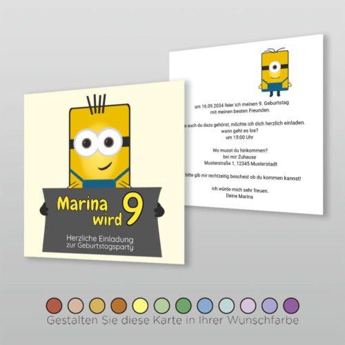 Kindergeburtstagskarte Q 2s Dima