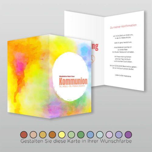 Kommunionskarte Josey A6h-4S