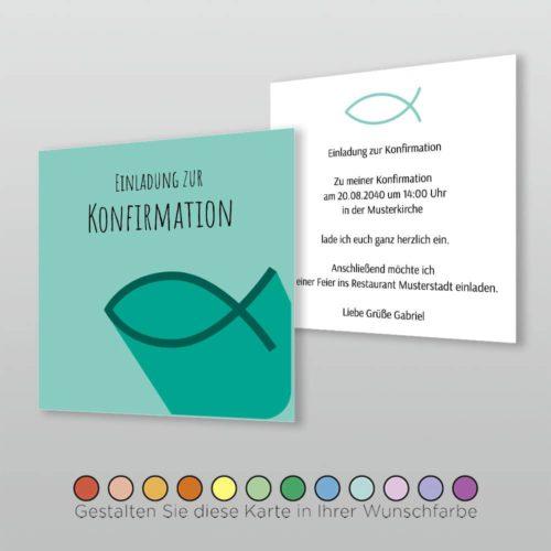 Konfirmationskarte Q 2S Karissa