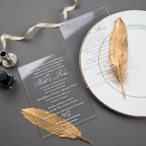 Plexiglas -Acryl Einladungskarte 02