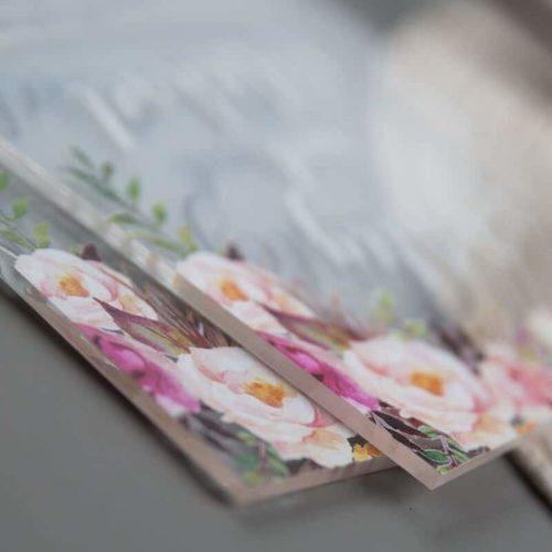Plexiglas -Acryl Einladungskarte 04
