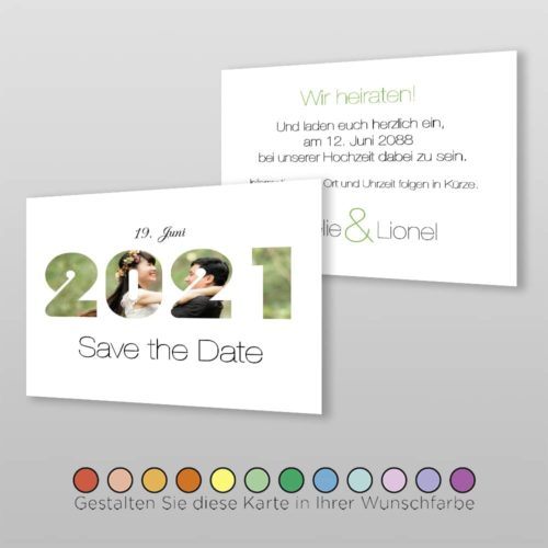Save the Date A6q 2S Amelie