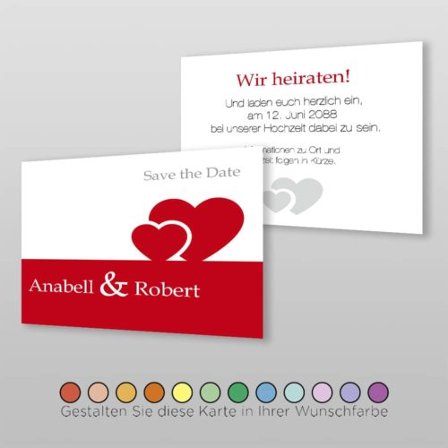 Save the Date A6q 2S Anabell