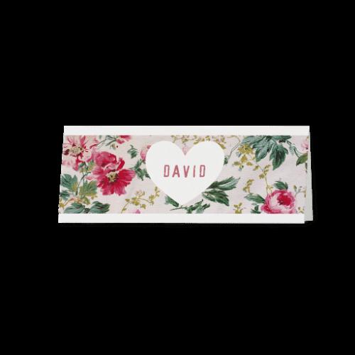 Tischkarte Flower