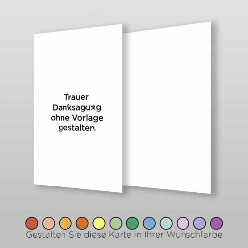 Trauer-Danksagung Blanco A6-2Sh